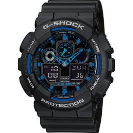 CASIO vyriški laikrodžiai G-Shock GA-100-1A2ER